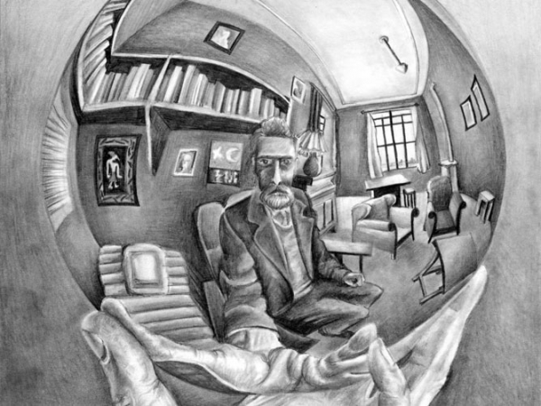 mc-escher-self-portrait