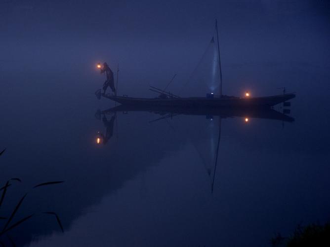 Fishing-at-night